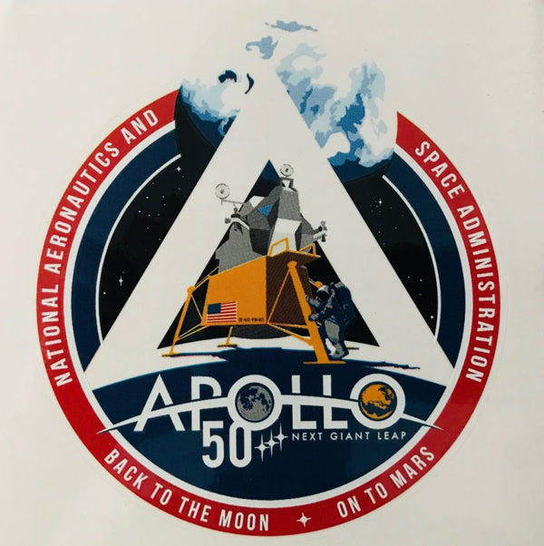 "Apollo 50th Anniversary Sticker 5"" - The Space Store"