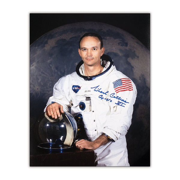 Michael Collins Signed Portrait Photo - The Space Store