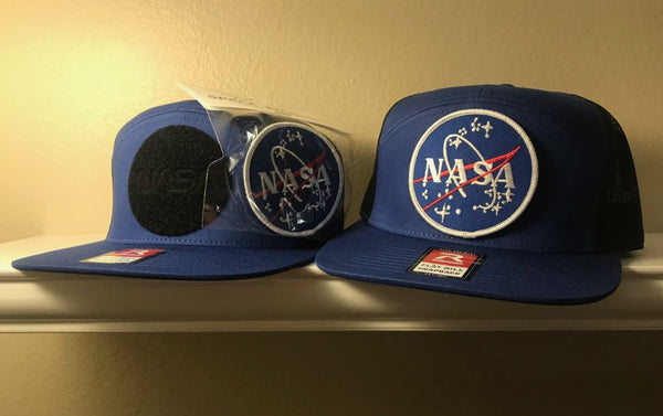 "NASA (original) Logo  Patch Cap - with velcro NASA 3"" Patch - The Space Store"