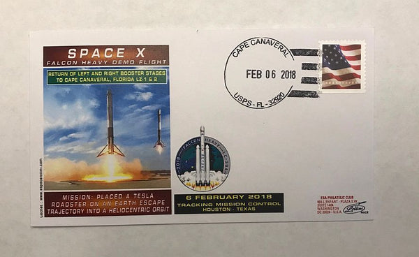 SPACEX FALCON HEAVY 'BOOSTERS RETURN TO CAPE' COVER