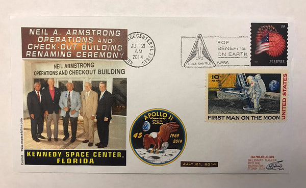 NEIL A. ARMSTRONG CEREMONY COVER - The Space Store