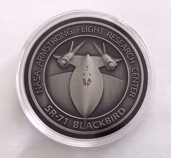 Armstrong SR-71  Blackbird Medallion - with SR-71 Metal - The Space Store