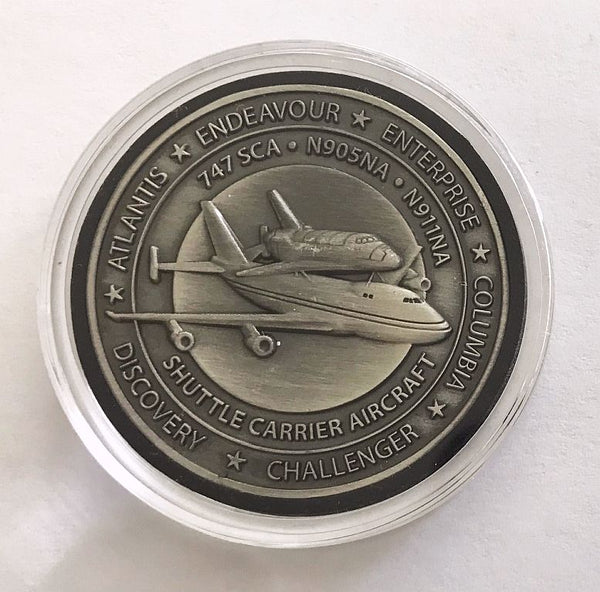 Dryden Shuttle Carrier Aircraft (SCA) Medallion - The Space Store