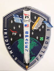 SPACEX IRIDIUM 5 MISSION PATCH