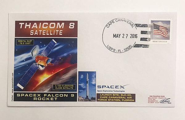 SPACEX THAICOMM 8 SATELLITE LAUNCH COVER - The Space Store