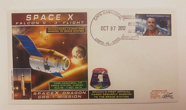 SPACEX DRAGON CRS-1 MISSION COVER