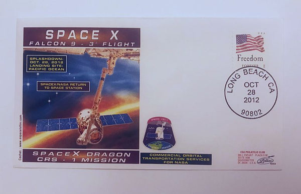 SPACEX DRAGON CRS-1 MISSION 'RETURN' COVER