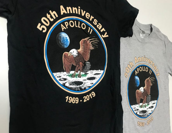 Apollo 11 50th Anniversary Unisex T-Shirt in Adult Sizing - The Space Store