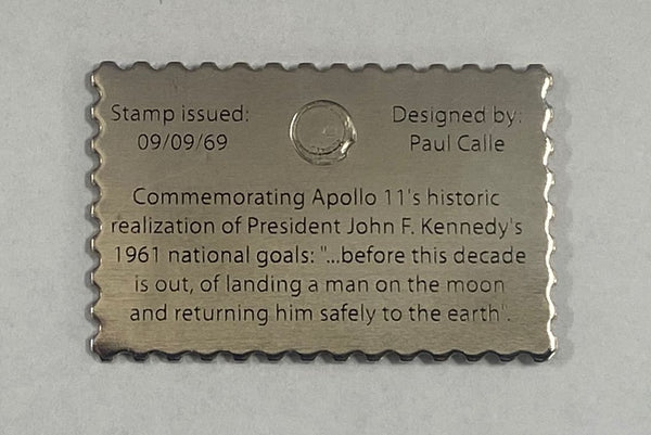FIRST MAN ON THE MOON STAMP - LAPEL PIN