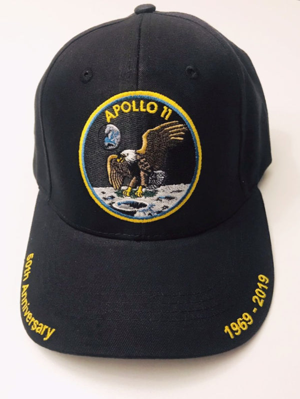 Apollo 11 50th Anniversary Cap in Black - The Space Store