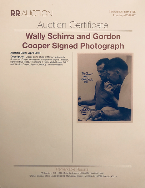 WALLY SCHIRRA AND GORDON COOPER AUTOGRAPHED PHOTO