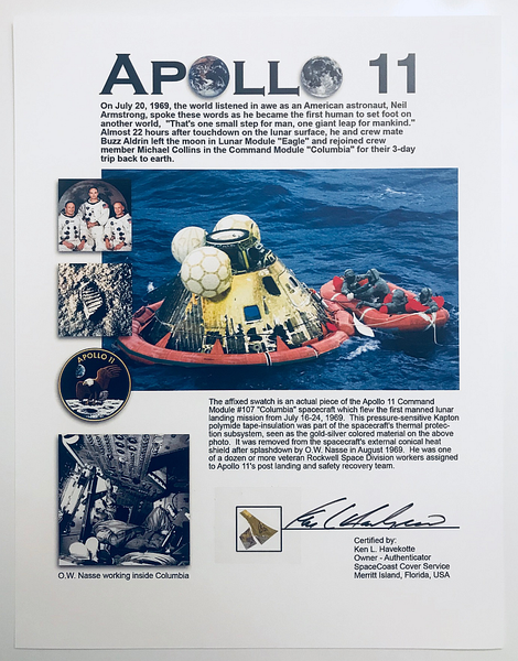 Apollo 11 Flown-in-Space Kapton Foil Presentation - The Space Store