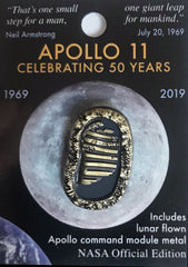 Apollo 50th Official NASA Edition Bootprint Lapel Pin (with flown metal)
