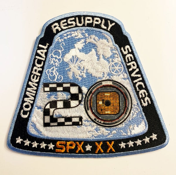 SPACEX CRS 20 Mission Patch - NASA version - The Space Store