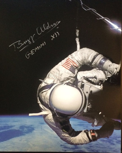 Autographed Photo - Buzz Aldrin Gemini XII - The Space Store