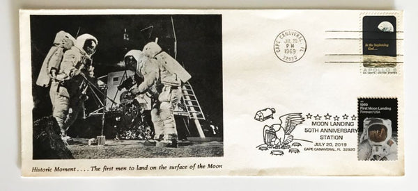 "50TH Anniversary APOLLO 11 Mission to the Moon Cover - 9"" X 4"" Large Format - The Space Store"