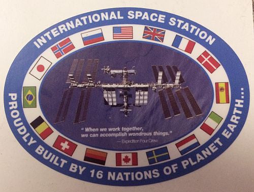 International Space Station Flags Decal