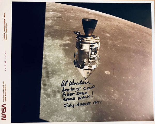 APOLLO 15 CMP AL WORDEN AUTOGRAPHED PHOTO - The Space Store
