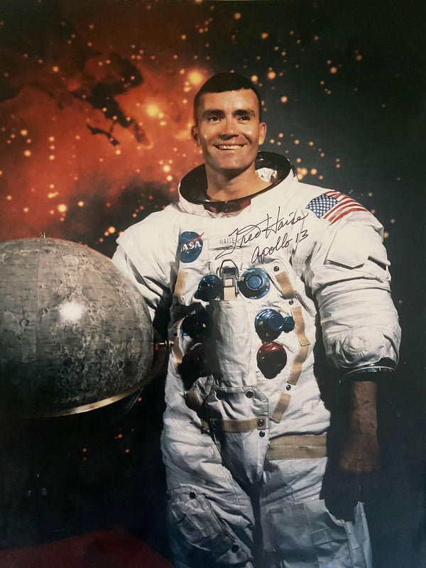 Apollo 13 Astronaut Fred Haise hand signed 8 x 10 portrait - The Space Store