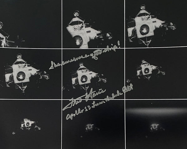 Apollo 13 Astronaut Fred Haise hand signed 8 x 10 Lunar Module images - The Space Store