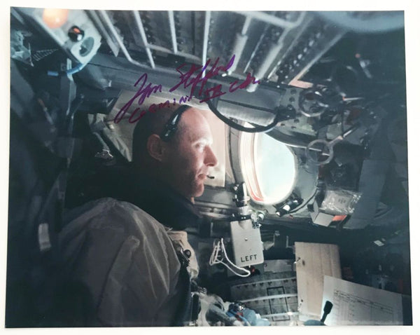 TOM STAFFORD GEMINI 9 CDR - AUTOGRAPHED PHOTO (plus extra one of his daughter)