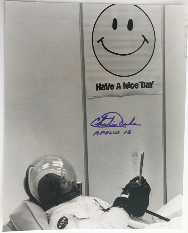 CHARLIE DUKE APOLLO 16 AUTOGRAPHED PHOTO - The Space Store