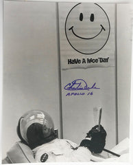CHARLIE DUKE APOLLO 16 AUTOGRAPHED PHOTO