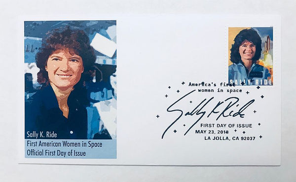 AMERICA'S FIRST WOMAN IN SPACE - SALLY RIDE COVER (version 1) - The Space Store
