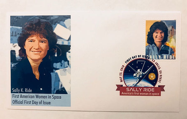 AMERICA'S FIRST WOMAN IN SPACE - SALLY RIDE COVER (version 2) - The Space Store
