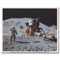 Apollo 15 Moonwalker Jim Irwin hand signed, inscribed photo