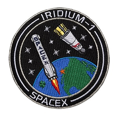SPACEX IRIDIUM 1 MISSION PATCH - The Space Store