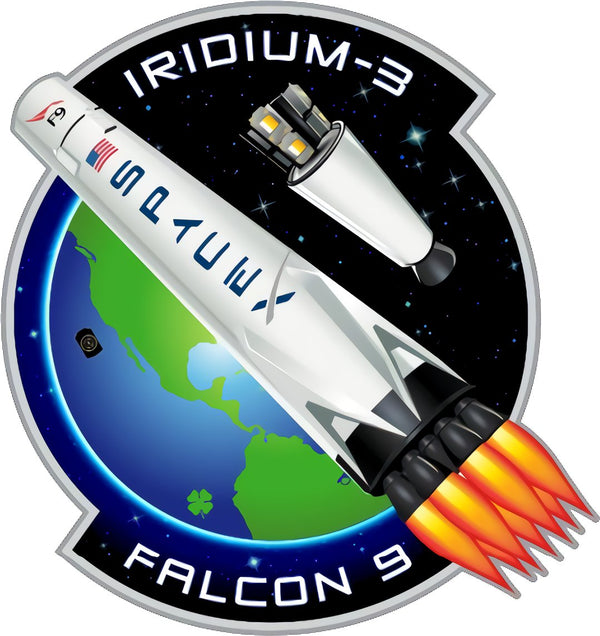 SPACEX IRIDIUM 3 MISSION PATCH - The Space Store
