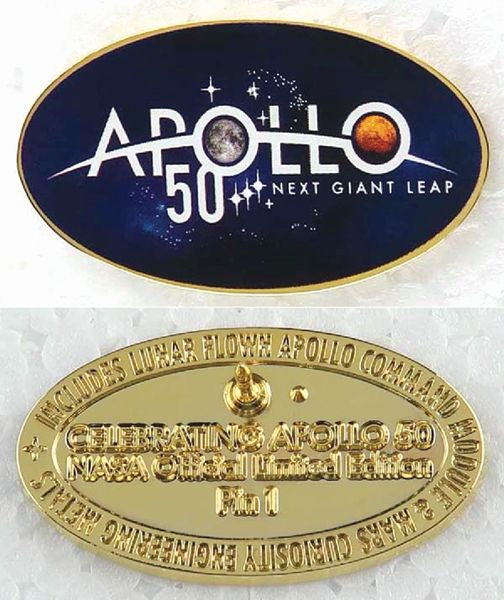 APOLLO 50th ANNIVERSARY 'NEXT GIANT LEAP' LAPEL PIN - The Space Store