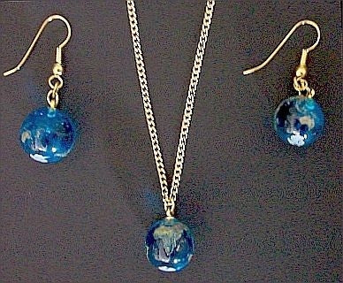 Earth Necklace & Earring Set - The Space Store