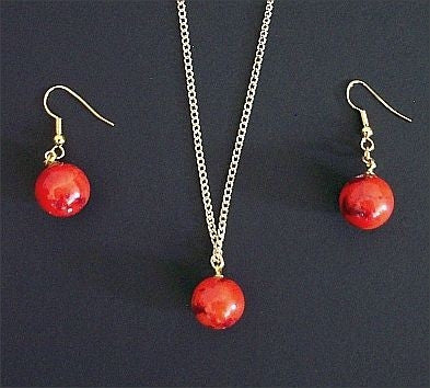 Mars Necklace & Earring Set