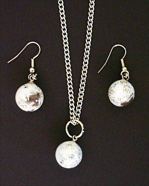 Moon Necklace & Earring Set