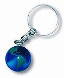 Earth Marble Keychain