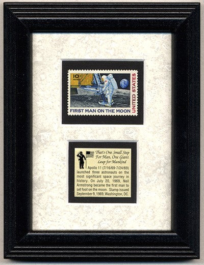 APOLLO 11 FIRST MAN STAMP FRAME
