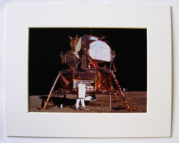 "Apollo 11 Lunar Module Matted Image 5"" x 7"" in 8"" x 11"" Mat - Photo"