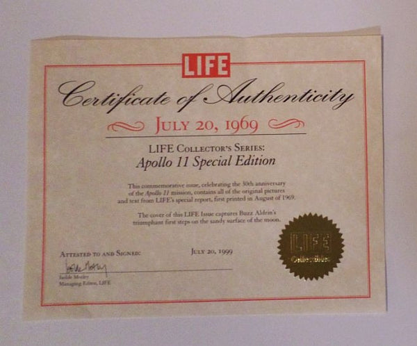 LIFE Magazine Collector Series: Apollo 11 Special Edition - hand signed by Buzz Aldrin - The Space Store