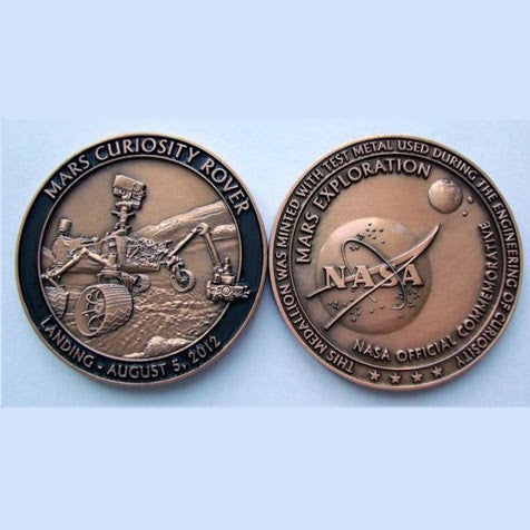 Mars Curiosity Medallion