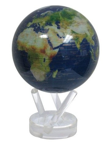 Mova Globe Revolving Satellite View with Gold Lettering 4.5 Inch