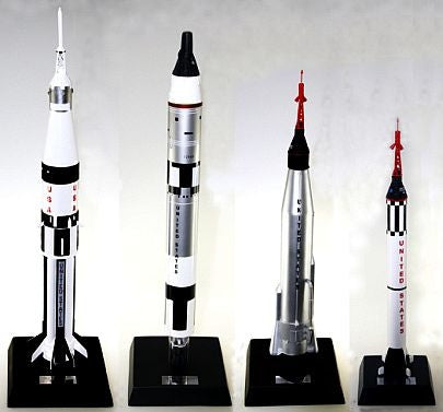 The 4 'Rocket Garden Rockets'  (set of 4) - Model - The Space Store