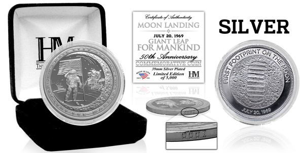 Apollo 11 Moon Landing 'Giant Leap For Mankind' Coin - The Space Store