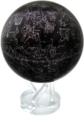 Mova Globe Revolving Silver Constellation on Deep Navy Blue - Large, 8.5-inch