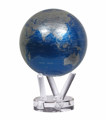 Mova Globe Revolving Cobalt Blue and Silver 4.5-inch