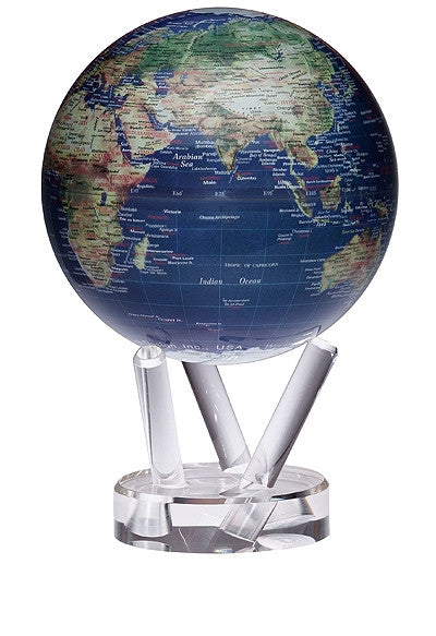 Mova Globe Revolving Satellite with Gold Map - Large, 6 inch