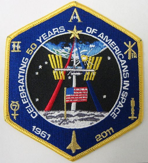 Celebrating '50 Years of Americans in Space' Commemorative Patch