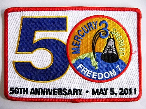 50th Anniversary' Mercury Freedom 7 - Patch - The Space Store