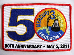 50th Anniversary' Mercury Freedom 7 - Patch